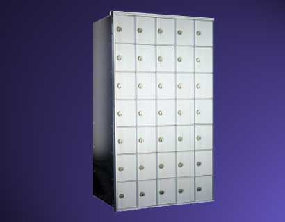 Horizontal Series -  9 High by 5 Wide Rear/Front Loading Mailbox Unit
