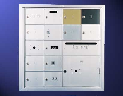 Front Loading Horizontal Mailboxes 5 High x 5 Wide